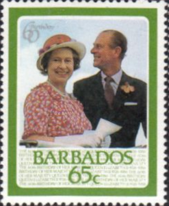 Stamps Barbados 1986 Queen Elizabeth II 60th Birthday Set Fine Mint