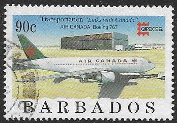 Barbados 1996 Aircraft SG 1090 Fine Used