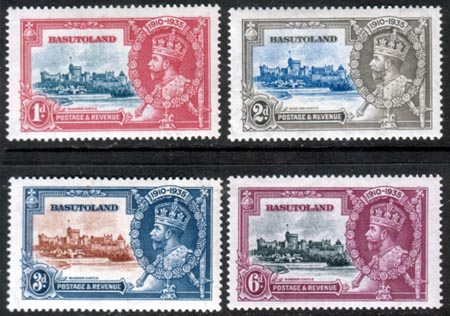 Basutoland Stamps 1935 King George V Silver Jubilee Set Fine Mint