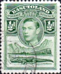 African Stamps Basutoland 1938 SG 18 King George VI and Crocodile Fine Used Scott