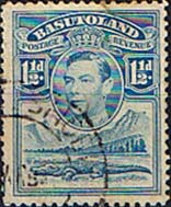 Stamps Basutoland 1938 SG 20 King George VI and Crocodile Fine Used SG 20 Scott