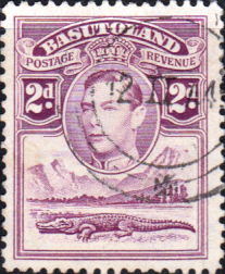 African Stamps Basutoland 1938 SG 21 King George VI and Crocodile Fine Used Scott