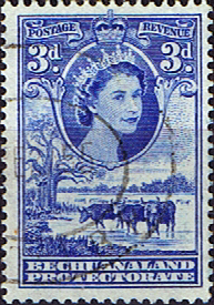 Bechuanaland 1955 Queen Elizabeth II Baobab Tree SG 146 Fine Used Scott 157 Stamps