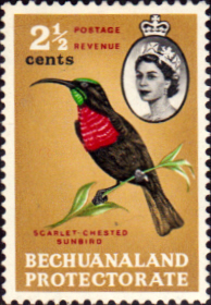Bechuanaland 1961 Birds Bird V SG 170 Fine Mint Scott 182 Stamps