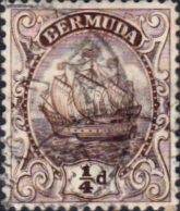Bermuda 1922 King George V Galleon SG 76b Fine Used