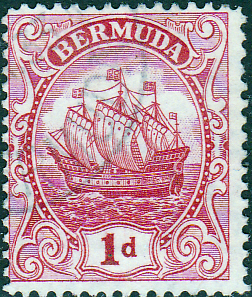 Bermuda 1922 King George V Galleon SG 79 Fine Used