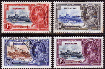 Bermuda Stamps 1935 King George V Silver Jubilee Set Fine Used
