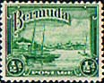 Bermuda 1936 King George V SG  98 Red Hole Paget Fine Used