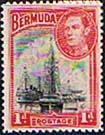 Stamps Bermuda 1938 King George VI Hamilton Harbour Fine Mint SG 110 Scott 118