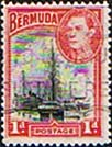 Bermuda 1938 King George VI SG 110 Hamilton Harbour Fine Used