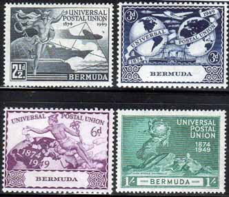 Bermuda Stamps 1949 Universal Postal Union Set Fine Mint