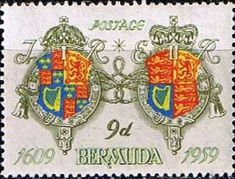 Stamps Bermuda 350th Anniv of Settlement Set Fine Mint