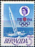Stamps Bermuda 1964 Tokyo Olympic Games Fine Mint SG 183 Scott 195