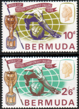 Postage Stamps of Bermuda 1966 Football World Cup Set Fine Mint
