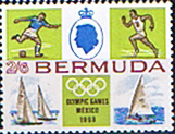 Bermuda 1968 Mexico Olympic Games SG 223 Fine Mint