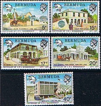 Stamps Bermuda 1977 Centenary of U.P.U. Set Fine Mint