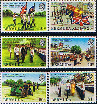 Stamps Bermuda 1982 Bermuda Regiment Set Fine Mint