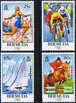 Stamps Bermuda 1996 Olympic Games Set Fine Mint