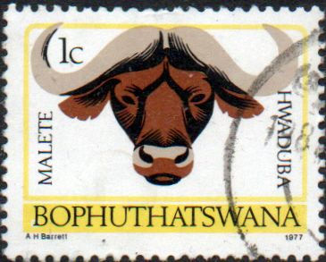 Bophuthatswana 1977 Tribal Totems Animals SG  5a Fine Used