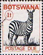 Postage Stamps Botswana 1977 Postage Due SG D 20