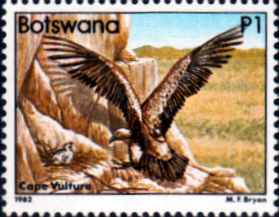 Botswana 1982 Birds Cape Vulture SG 531 Fine Mint