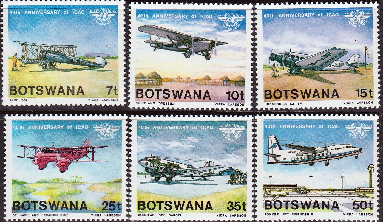Botswana 1984 International Civil Aviation Organization Set Fine Mint