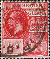 British Guiana 1921 George V Head and Ship SG 273 Fine Used