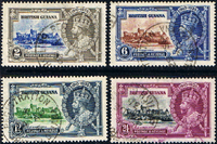 British Guiana 1935 King George V Silver Jubilee Set Fine Used