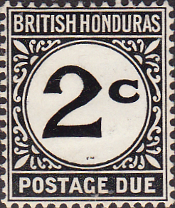 British Honduras 1923 Post Due SG D4 Fine Mint