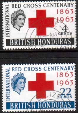 Stamps of British Honduras 1963 Red Cross Centenary Fine Mint