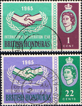British Honduras 1965 International Co-operation Year Set Fine Used