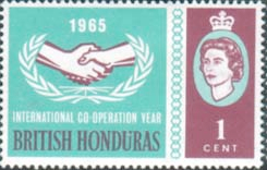 Postage Stamps of British Honduras 1965 International Co-operation Year Set Fine Mint