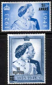 Stamps of British Postal Agencies in Eastern Arabia Muscat Oman King George VI