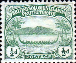 British Solomon Islands 1908 SG 8 Small Canoes Mint