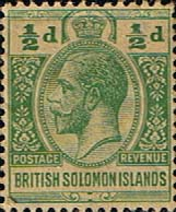 British Solomon Islands 1914 SG 23 George V Head Fine Mint