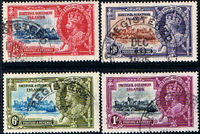 British Solomon Islands 1935 King George V Silver Jubilee Stamps