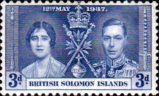 British Solomon Islands 1937 King George VI Coronation SG 59 Fine Mint