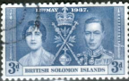 British Solomon Islands 1937 King George VI Coronation SG 59 Fine Used