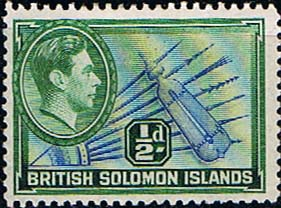 British Solomon Islands 1939 SG 60 Spears and Shield Fine Mint