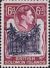 British Solomon Islands 1939 SG 67 Coconut Plantation Fine Mint