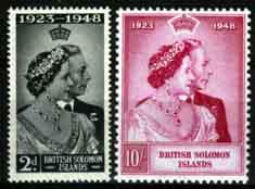 Solomon Islands Stamps King George VI Royal Silver Wedding