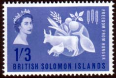 Stamps British Solomon Islands 1963 Freedom From Hunger Fine Mint