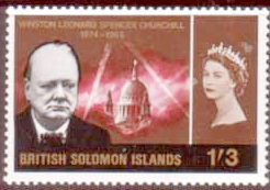 Stamps of British Solomon Islands 1966 Churchill Set Fine Mint