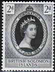 British Solomon Islands Queen Elizabeth II 1953 Coronation Stamps