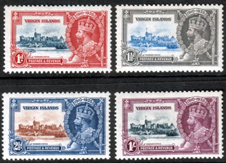 British Virgin Islands Stamps 1935 King George V Silver Jubilee Set Fine Mint