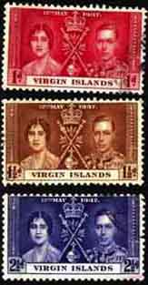 British Virgin Islands Stamps 1937 Coronation