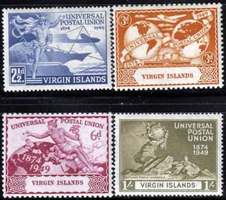 Stamps British Virgin Islands Stamps 1949 Universal Postal Union