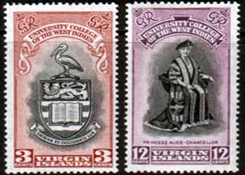 Stamps Stamp British Virgin Islands 1951 British West Indies University College Set Fine Mint