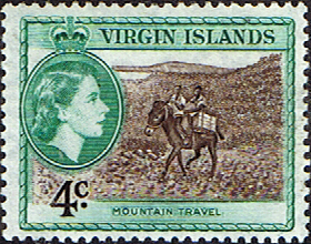 British Virgin Islands Stamps 1956 Queen Elizabeth II Sloop SG 153 Fine Mint Scott 119