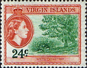 Stamps British Virgin Islands Stamps 1956 Queen Elizabeth II Sloop SG 157 Fine Mint Scott 123